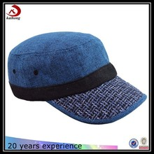 Top quality Custom classics old style Hemp fabric design Flax flat hat