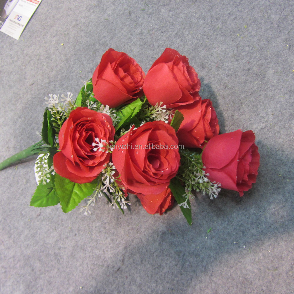 Mini artificial flower rose bouquet cheap price rose flowers bunch mini artificial flower rose bouquet izmirmasajfo
