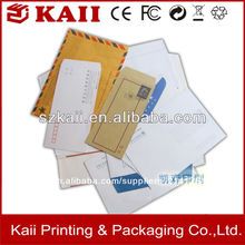 oem personalizada sobre empresas de papel de color de la máquina de tamaño personalizado y el diseño de sobres de papel en china