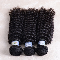 Raw Unprocessed 3pcs lot 20inch Jerry Curly Hair 100% remy curly brazilian hair weave