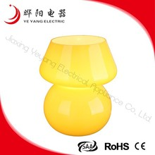 Max 25w Fashionable Design Yellow Glass Table Lamp