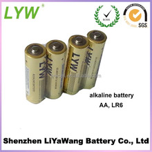 Shrink Packing and Blister Card Packing 1.5 V LR6 AA Alkaline Battery AM-3 In Stock