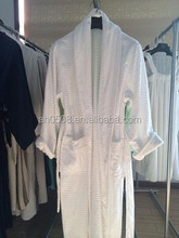 100% cotton shawl collar jacquard bathrobes for men for 5 star hotel