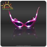 2015 novelty led flashing horn shaped led sunglasses for Christmas