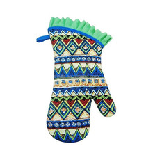 funny oven gloves and oven mitt, cooking oven gloves with one finger, promotion silk screen printing oven gloves