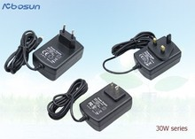 Customized power adapter desktop/wall mount connection power adapter 12v 2.5a for EU UK US AU