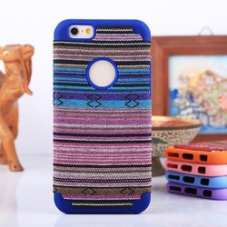OEM case stylish cloth flower fancy cover for iphone6 case