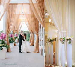 High Quality wedding decor latest curtain designs
