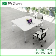 conference table white cheap and good quality with aluminum alloy legs