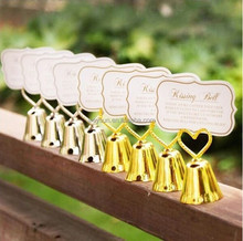 Wedding Decorated gifts Heart Bell Place Card Holders