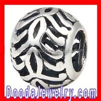 European Silver Antique Decorative Beads for DIY Jewelry Making