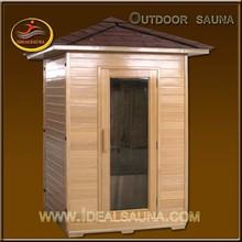 High quality hemlock 2 person outdoor sauna steam room