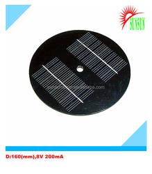 160mm Diameter PET 8V 200mA solar panel