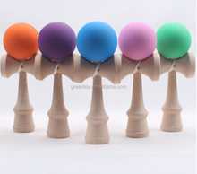 Colorful wooden rubber paint kendama toy for wholesale