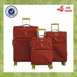 3 pcs set nylon trolley suitcase, travel luggage and bag factory