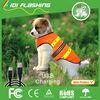 Orange fluorescent dog protective vest , rechargeable vest for pet