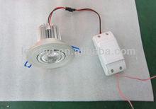 2012 Newest COB Led grey casing Anti-glare CRI>75 Bridgelux chip Patent DIWL Lens 7w led downlight HOT!!!