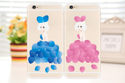 Christmas painting design soft TPU case for apple iphone 5 5S 6 6S petal girl