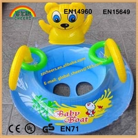 Cute water boat for kids inflatable kids toy