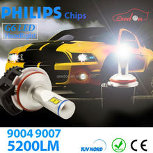 Qeedon new 6000lm h4 car light fanless motocycle led