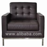 Florence knoll modern two seater European leather sofa