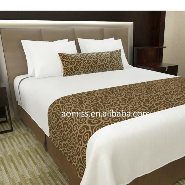 Luxury decorative box pleated bed skirt bed skirting bed for Luxury hotel 660 collection bed skirt