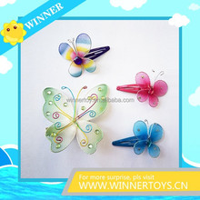 Different size butterfly girls hair clips