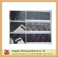 China high cost-effective double layer regular shape asphalt roofing shingles