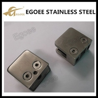 Square Stainless Steel Glass Clamp Manufacturer,Handrail Glass Clamp Rail
