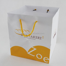 Recyclable shopping art paper bags with handles wholesale