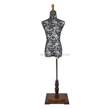 Caliente la venta de fibra de vidrio maniquí barato costura de encaje negro maniquí