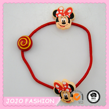 Cute Red Little Mouse Picture Kknekki Thin Elastic Hair Band for Girls