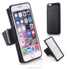 Genuine Leather Combo Sport Armband Mobile Phone Case For iphone 6 plus 5.5 inch