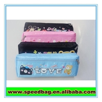 600 D polyester two compartments pencil case