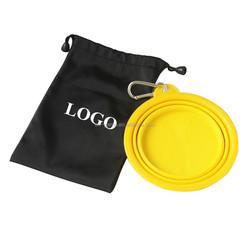 Portable Travel Pet Water Bowl (12 Oz) with Free Bonus waterproof storage bag