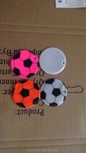 safety reflective football keychain of printing logo for promotion
