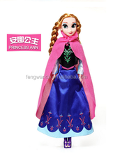 11.5 inch High quality Elsa and Anna Frozen Princess Dolls Olaf Frozen doll with music let it go
