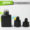 Hot shape 30ml frosted black glass e liquid empty bottle with glass dropper and ruber top from China Supplier