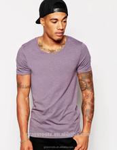 2015 High Quality New Design Men V Neck T Shirt Slim Fit