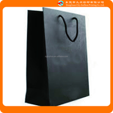 Adult clothing brand high grade black paper packaging bag