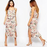 Juhai 3505 latest designs pictures spaghetti strap bangkok night dress for women