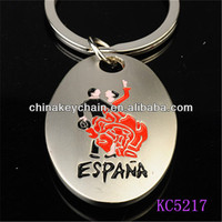 Planting With A Pattern Of Latin Dance Round Key Chain