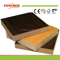 18mm double sided embossed melamine paper mdf board from Linyi