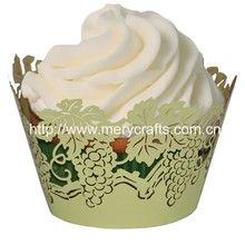Elegant Wedding Cake Packing Festival Party Favors Laser Cut Paper Cupcake Wrappers Wholesale