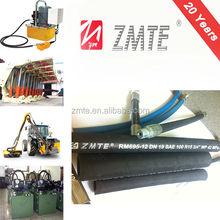 EN856 R15 China Hebei ZMTE large small diameter heat resistant high pressure high temperature flexible rubber hose