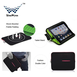 For iPad Air 2 Case ! 2014 Universal Neoprene Sleeve lining with Bubble
