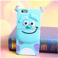 3d cartoon style phone case animal silicone back cover for iphone 6