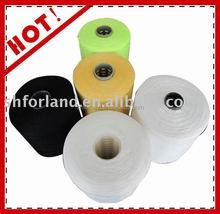 60s/3 ring spun raw white polyester yarn on plastic tube