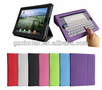 Brandnew 3 folder leather smart cover for ipad air leather case, many colors