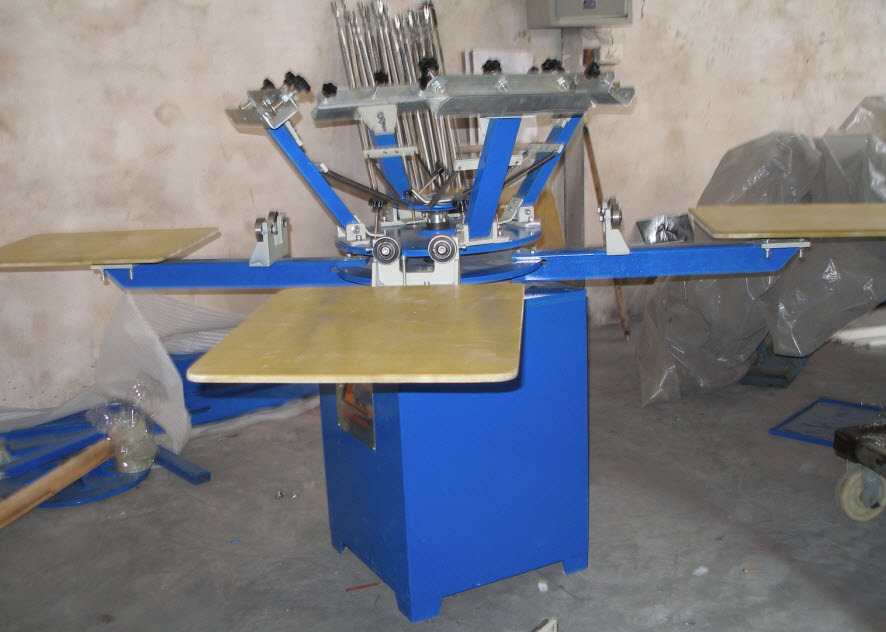 Spm 4 6 8 color 4 6 8 station manual ratory silk screen for Screen printing machine for t shirts for sale